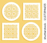 templates for laser cutting ... | Shutterstock .eps vector #1137394655