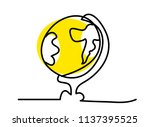 continuous line drawing of a... | Shutterstock .eps vector #1137395525