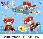 vector set of little super hero ... | Shutterstock .eps vector #1137398147