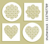 templates for laser cutting ... | Shutterstock .eps vector #1137407789
