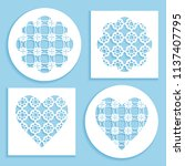 templates for laser cutting ... | Shutterstock .eps vector #1137407795