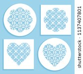 templates for laser cutting ... | Shutterstock .eps vector #1137407801