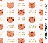 seamless pattern  with cartoon... | Shutterstock .eps vector #1137410864