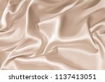 the texture of the satin fabric ... | Shutterstock . vector #1137413051