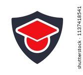 graduation hat icon. education... | Shutterstock .eps vector #1137418541