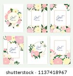 set of greeting card with... | Shutterstock .eps vector #1137418967