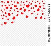 red falling heart petals... | Shutterstock .eps vector #1137420191