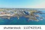 portstewart town atlantic ocean ... | Shutterstock . vector #1137425141