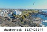 portstewart town atlantic ocean ... | Shutterstock . vector #1137425144