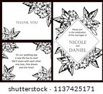 invitation greeting card with... | Shutterstock . vector #1137425171