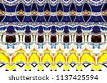 colorful horizontal pattern for ... | Shutterstock . vector #1137425594