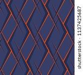 abstract seamless football... | Shutterstock .eps vector #1137425687