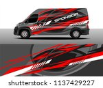 cargo van decal designs  truck... | Shutterstock .eps vector #1137429227