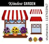 Window Flower Garden With...