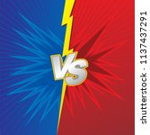 background design for duel or... | Shutterstock .eps vector #1137437291