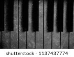 old piano vintage background | Shutterstock . vector #1137437774