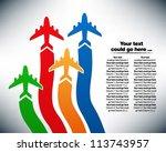 presentation slide template... | Shutterstock .eps vector #113743957