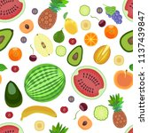 pattern from different types of ... | Shutterstock . vector #1137439847