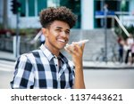 african american young adult... | Shutterstock . vector #1137443621