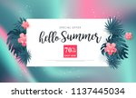 summer sale background layout... | Shutterstock .eps vector #1137445034