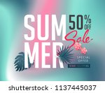 summer sale background layout... | Shutterstock .eps vector #1137445037