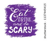 happy halloween greeting card.... | Shutterstock .eps vector #1137445415