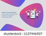 chat engagement  messenger... | Shutterstock .eps vector #1137446507
