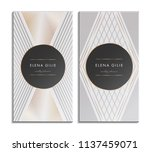 set of gold and white business... | Shutterstock .eps vector #1137459071