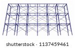 scaffolding frame 3 floors... | Shutterstock .eps vector #1137459461