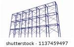 scaffolding frame 3 floors...   Shutterstock .eps vector #1137459497