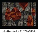 aboriginal art vector... | Shutterstock .eps vector #1137461084