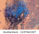 contemporary art. hand made art.... | Shutterstock . vector #1137461327