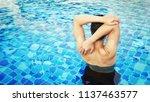 handsome... | Shutterstock . vector #1137463577