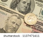 money dollars and coin | Shutterstock . vector #1137471611
