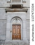 dublin  jul 1  exterior view of ... | Shutterstock . vector #1137472334
