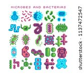bacteria and microbe under a... | Shutterstock .eps vector #1137472547