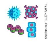 bacteria microbe virus parasite ... | Shutterstock .eps vector #1137472571