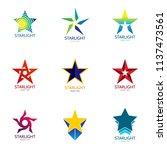 set of star logo design... | Shutterstock .eps vector #1137473561