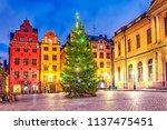 stortorget square in old town ... | Shutterstock . vector #1137475451