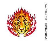 mascot icon illustration of...   Shutterstock .eps vector #1137480791