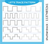 tracing lines activity for... | Shutterstock .eps vector #1137485261