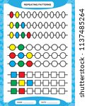 complete repeating patterns.... | Shutterstock .eps vector #1137485264