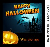 vector halloween poster | Shutterstock .eps vector #113749054