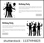 birthday party promotional... | Shutterstock .eps vector #1137494825