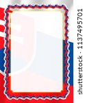 frame and border of ribbon with ... | Shutterstock .eps vector #1137495701