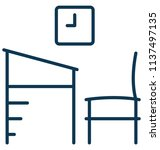 classroom furniture isolated... | Shutterstock .eps vector #1137497135