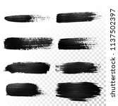 black watercolor brush stroke.... | Shutterstock .eps vector #1137502397