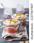 homemade healthy yoghurt in... | Shutterstock . vector #1137507407