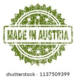 made in austria stamp seal... | Shutterstock .eps vector #1137509399