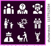 set of 9 people filled icons... | Shutterstock . vector #1137512534